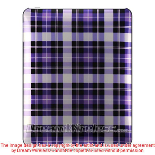 DreamWireless IPOD-CAIDPPCK-R iPad Crystal Case Rear Case Only - Purple Checker