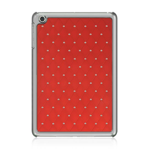 DreamWireless IPOD-CHIDMINISTDRD-R Apple iPad Mini Chrome Case - Plaid Studded Diamond Red