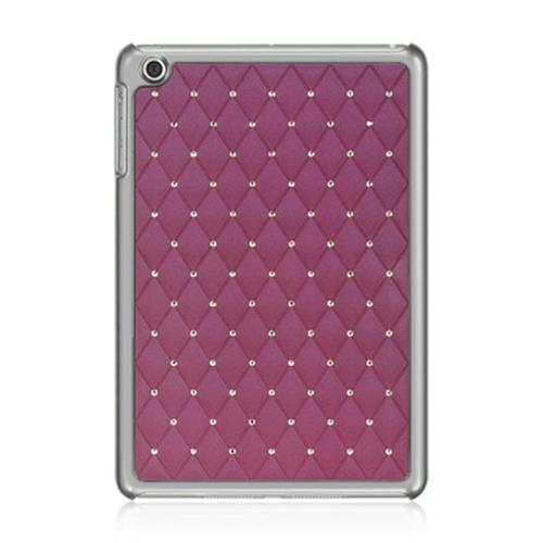 DreamWireless IPOD-CHIDMINISTDPP-R Apple iPad Mini Chrome Case - Plaid Studded Diamond Purple