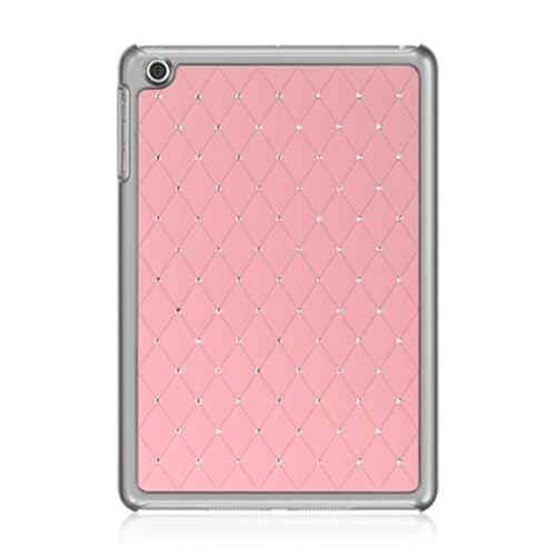 DreamWireless IPOD-CHIDMINISTDPK-R Apple iPad Mini Chrome Case - Plaid Studded Diamond Pink