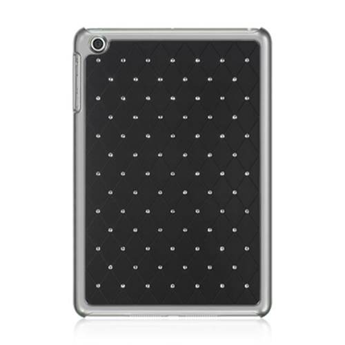 DreamWireless IPOD-CHIDMINISTDBK-R Apple iPad Mini Chrome Case - Plaid Studded Diamond Black