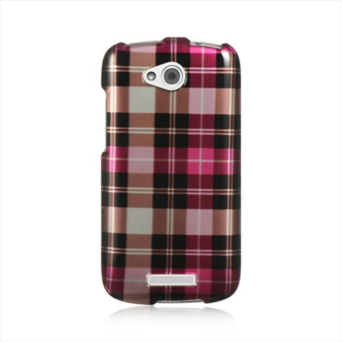 DreamWireless CAHTCONEVXHPCK Htc One Vx Crystal Case - Hot Pink Checker