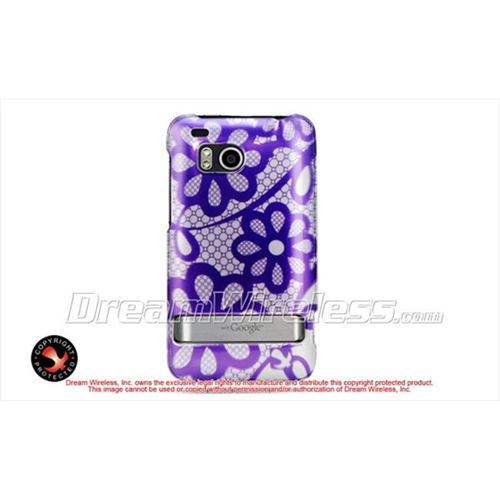 DreamWireless CAHTCINCHDPPLACE Htc 6400 Thunderbolt Incredible Hd Crystal Case - Purple Lace