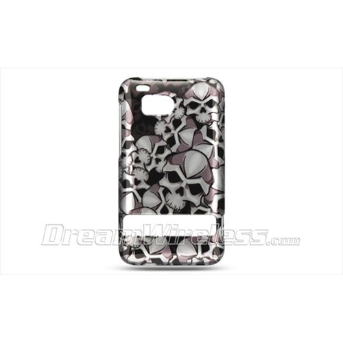 DreamWireless CAHTCINCHDBKSK Htc Thunderbolt Incredible Hd 6400 Crystal Case - Black Skull