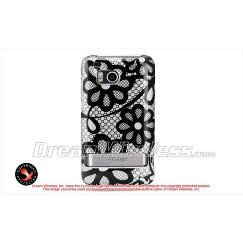 DreamWireless CAHTCINCHDBKLACE Htc 6400 Thunderbolt Incredible Hd Crystal Case - Black Lace