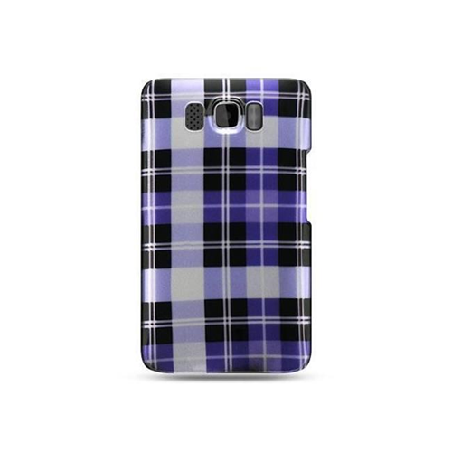 DreamWireless CAHTCHD2PPCK-R Htc Hd2 Crystal Case - Purple Checker
