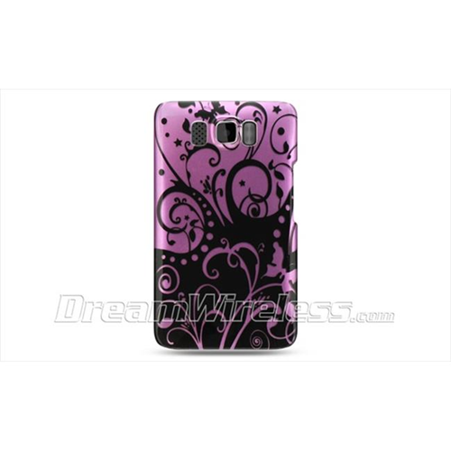 DreamWireless CAHTCHD2PPBKSW-R Htc Hd2 Crystal Case - Purple with Black Swirl