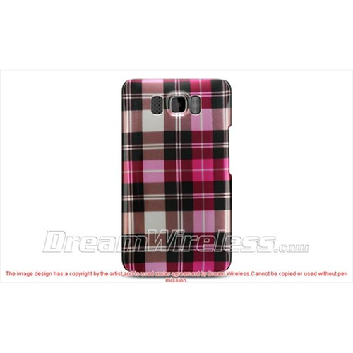 DreamWireless CAHTCHD2HPCK-R Htc Hd2 Crystal Case - Hot Pink Checker