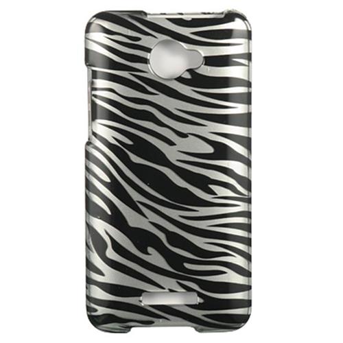 DreamWireless CAHTCDLXSLZ Htc Dlx Droid Dna Crystal Case - Silver Zebra