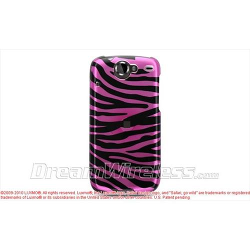 DreamWireless CAGON1PKZ Htc Google Nexus 1 Crystal Case - Pink with Black Zebra