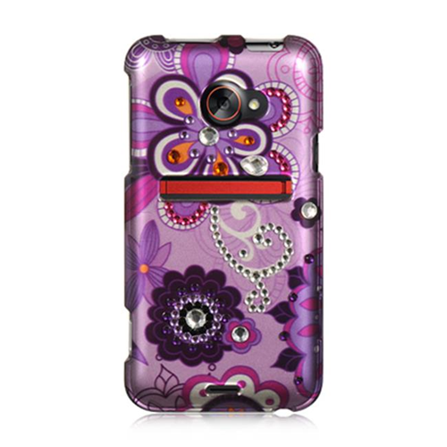 DreamWireless SDAHTCEVO4GPPVIOLET HTC Evo 4G LTE Spot Diamond Case Purple Violet