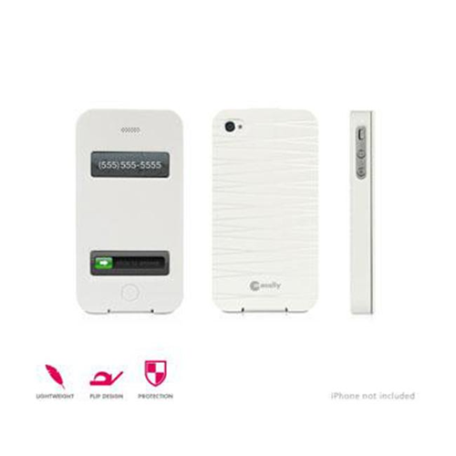 Macally FlipW Flip Cover Case For iPhone 4S-4 White