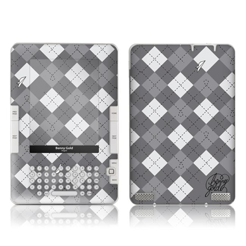 Zing Revolution MS-BG10061 Amazon Kindle 2- Benny Gold- Argyle Skin