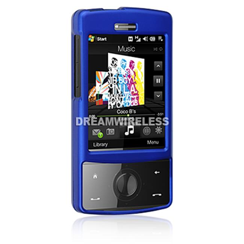 DreamWireless CRHTCTDBL HTC Touch Diamond Rubber Case CDMA Blue