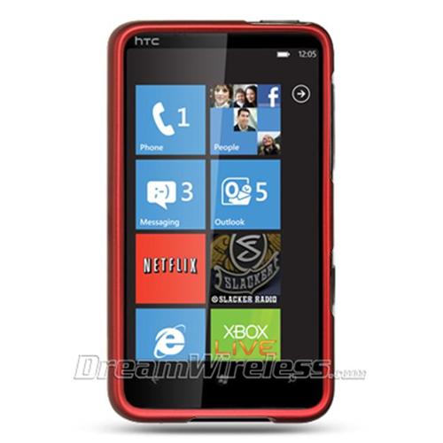 DreamWireless CRHTCHD7RD HTC HD7 Crystal Rubber Case Red