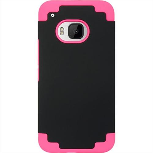 DreamWireless SCRHTCM9-HPBK Htc M9 Hybrid Case Hot Pink Skin Plus Black Pc