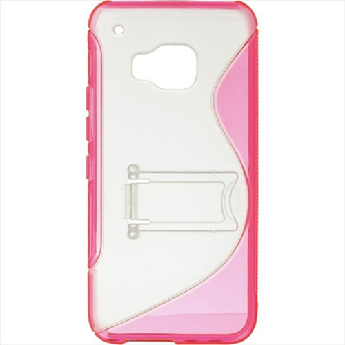 DreamWireless TPCHTCM9-STDS-HPCL HTC M9 Standed Candy Case Hot Pink Trim With Clear