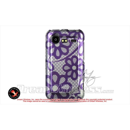 DreamWireless CAHTC6350PPLACE Htc Incredible 2 6350 Crystal Case - Purple Lace