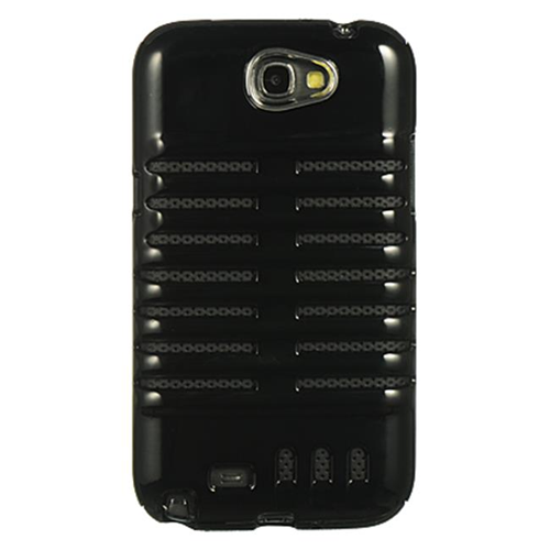 DreamWireless CSASAMNOTE2SKEBKBK Samsung Galaxy Note 2 Hybrid Skeleton Black Crystal Skin & Black