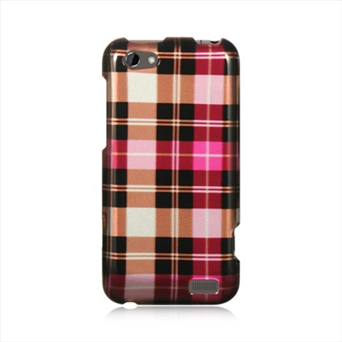 DreamWireless CAHTCONEVHPCK Htc One V Crystal Case - Hot Pink Checker