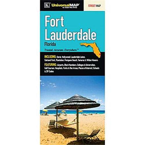 Map Of Fort Lauderdale Florida.Universal Map 13597 Ft Lauderdale Florida Fold Map Other Travel