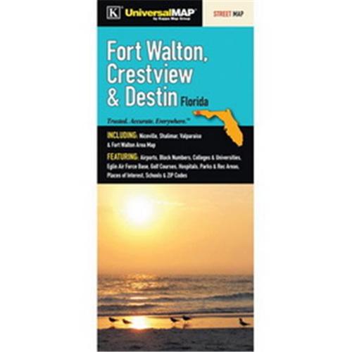 Map Of Fort Walton Beach Florida.Universal Map 11742 Fort Walton Beach Crestview And Destin Fl Fold
