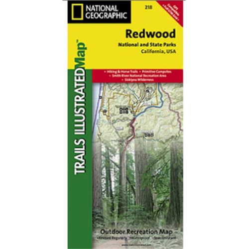 National Geographic Ti00000218 Map Of Redwood National Park