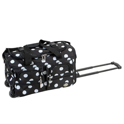 5c86a2150efc Fox Luggage PRD322-BLACK DOTS 22 in. Rolling Duffle Bag Rockland   Duffle  Bags - Best Buy Canada