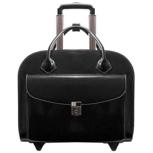 McKlein GRANVILLE 96145A - Black - Wheeled Ladies Laptop Case