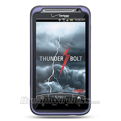 DreamWireless CRHTCINCHDPP HTC Thunderbolt & Incredible HD & 6400 Crystal Rubber Case Purple