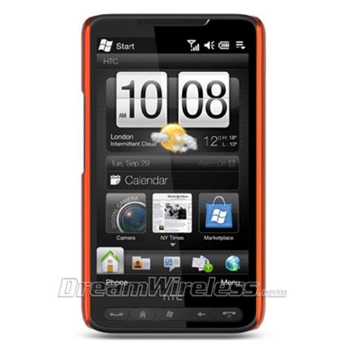DreamWireless CRHTCHD2OR-R HTC HD2 Crystal Rubber Case - Rear Only Orange
