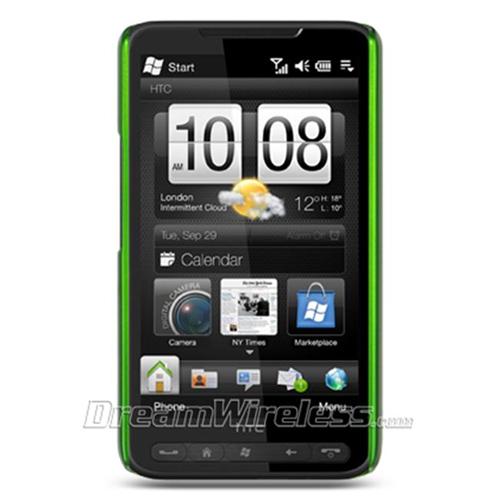 DreamWireless CRHTCHD2GR-R HTC HD2 Crystal Rubber Case - Rear Only Green
