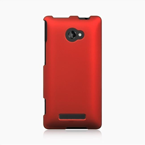DreamWireless CRHTC8XRD HTC 8X Crystal Rubber Case Red