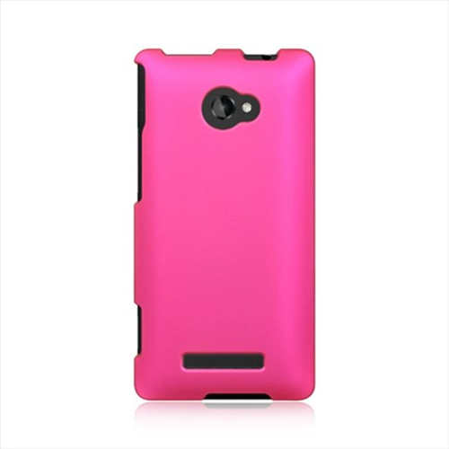 DreamWireless CRHTC8XHP HTC One 8X Crystal Rubber Case Hot Pink