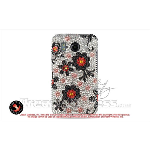 DreamWireless FDHTCINS4GBKRBBF Htc Inspire 4G Full Diamond Case Black With Rainbow Butterfly