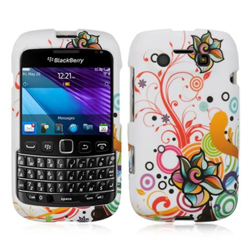 DreamWireless CRBB9790WTATFL Blackberry 9790 Crystal Skin Case White Autumn Flower
