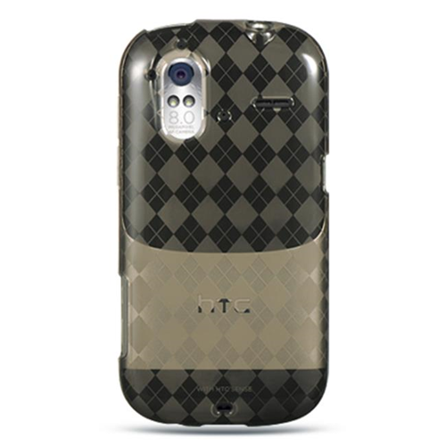 DreamWireless CSHTCAMAZESMCK HTC Amaze 4G & Ruby Crystal Skin Case Smoke Checker