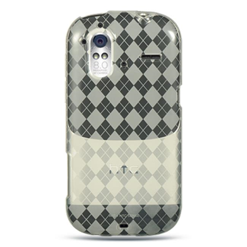 DreamWireless CSHTCAMAZECLCK HTC Amaze 4G & Ruby Crystal Skin Case Clear Checker