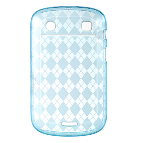DreamWireless CSBB9900BLCK Blackberry Bold Touch 9900 & 9930 Crystal Skin Case Blue Checker