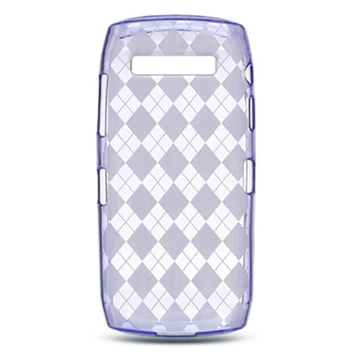 DreamWireless CSBB9100PPCK Blackberry Pearl 9100 Crystal Skin Purple Checker