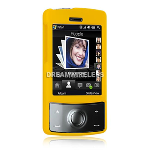 DreamWireless CRHTCTDYL HTC Touch Diamond Rubber Case - CDMA Yellow