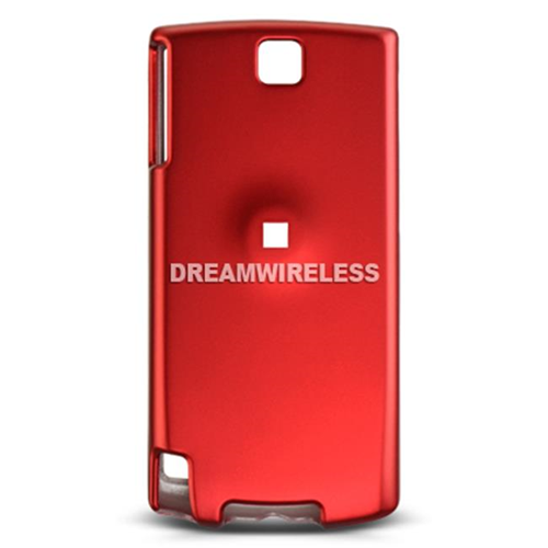 DreamWireless CRHTCPURERD HTC Pure & Touch Diamond 2 - GSM Rubber Crystal Case Red