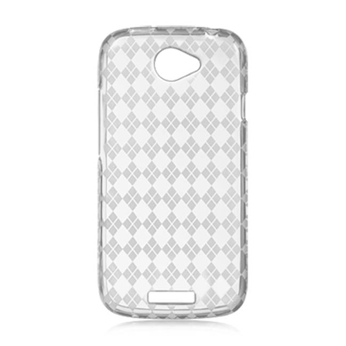 DreamWireless CSHTCVILLECLCK HTC Ville & One S Crystal Skin Case Clear Checker