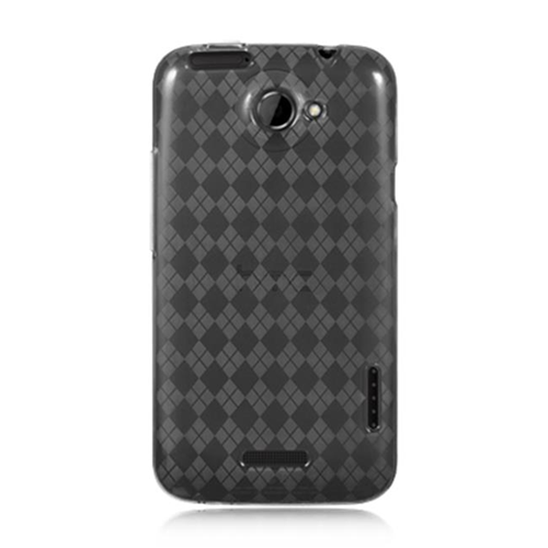 DreamWireless CSHTCONEXSMCK HTC One X Crystal Skin Case Smoke Checker