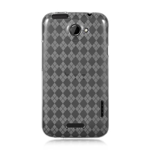 DreamWireless CSHTCONEXCLCK HTC One X Crystal Skin Case Clear Checker