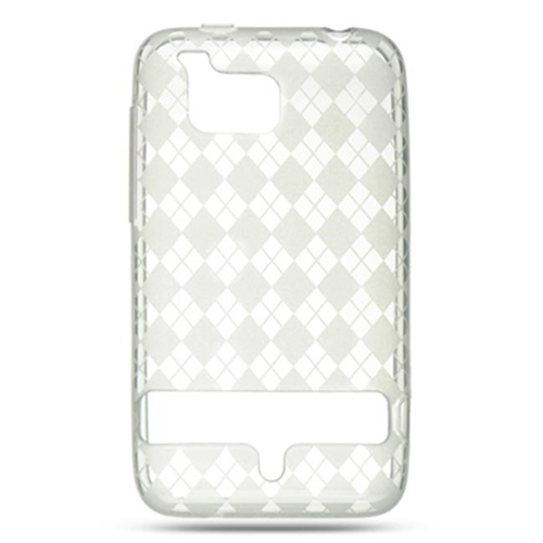 DreamWireless CSHTCINCHDCLCK HTC Thunderbolt 4G & Incredible HD & 6400 Crystal Skin Clear Checker