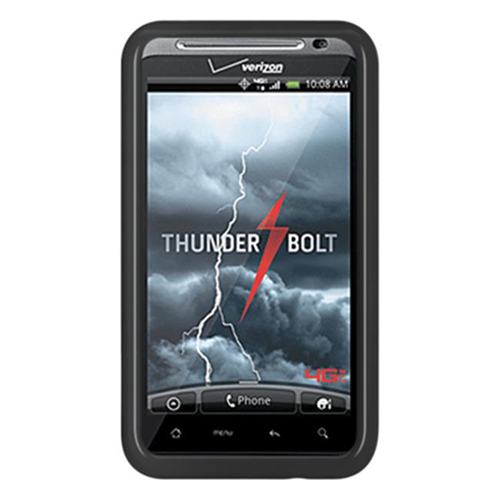DreamWireless CSHTCINCHDBK HTC Thunderbolt 4G & Incredible HD & 6400 Crystal Skin Black