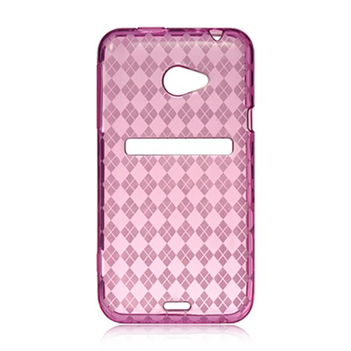 DreamWireless CSHTCEVO4GHPCK HTC Evo 4G LTE Crystal Skin Case Hot Pink Checker