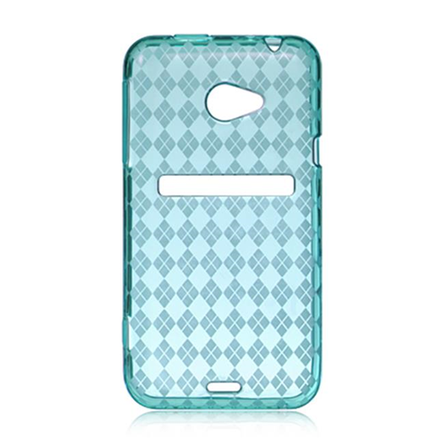 DreamWireless CSHTCEVO4GBLCK HTC Evo 4G LTE Crystal Skin Case Blue Checker