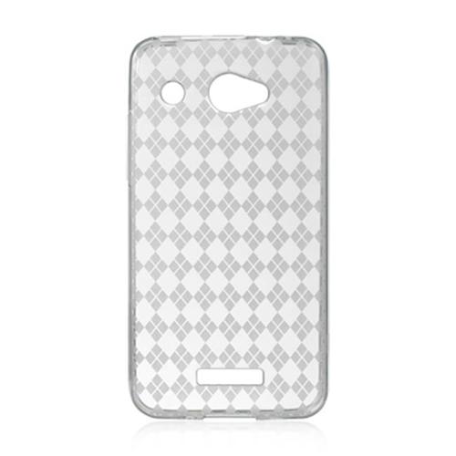 DreamWireless CSHTCDLXCLCK HTC DLX & Droid DNA Crystal Skin Case Clear Checker